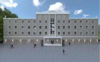 Wizualizacja budynku DTBS w Pieszycach TBS Dzierżoniów